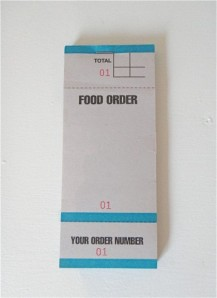 FOOD ORDER PAD