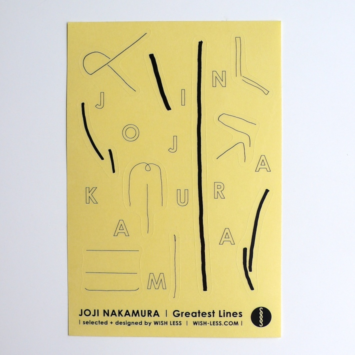 Joji Nakamura / Greatest Lines sticker sheet