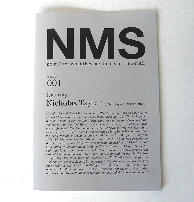 NMS #001 Featuring; Nicholas Taylor